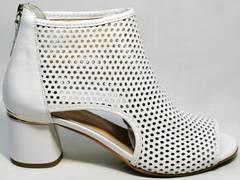 Летние ботильоны ботинки женские кожаные Magnolya 3503 56-3 SummerWhite