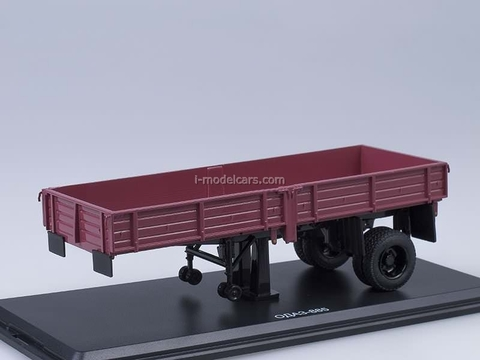 Semitrailer ODAZ-885 dark-red Start Scale Models (SSM) 1:43