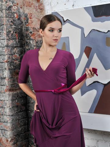 Платье с запахом на завязках, юбка годе