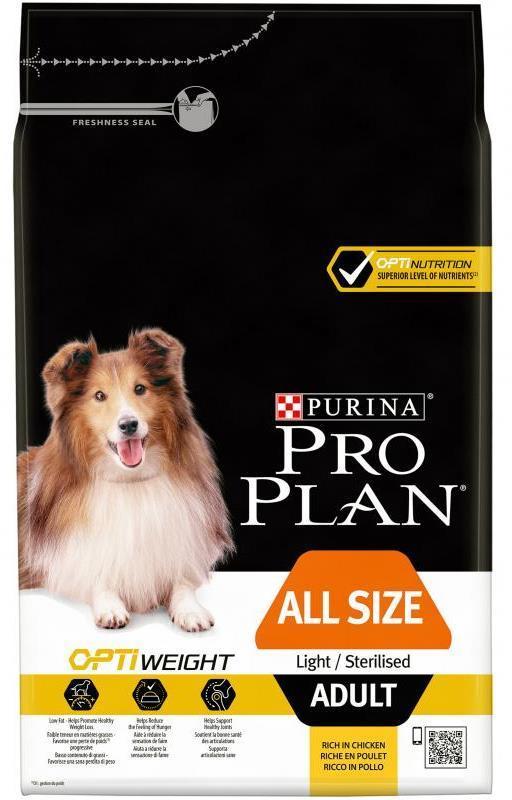 Сухой корм Сухой корм, Purina Pro Plan Dog, для склонных к избыточному весу и/или стерилизованных взрослых собак всех пород, с курицей и рисом склонных_к_избыточному_весу_или_стерилизованных_собак_всех_пород__курица_с_рисом.jpg