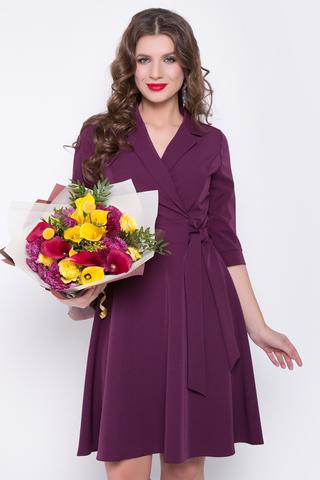 <p><span>Отличное платье для романтической дамы! Отложной воротничок. Юбка клёш, с имитацией пояса. Рукав до локтя с манжетой. Отличный вариант для торжества. (Длина: 46-98см; 48-99см; 50-100см; 52-101см)</span></p>