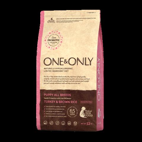 One&Only Turkey & Rice Puppy All Breeds Сухой корм для щенков всех пород Индейка с рисом низкозерновой