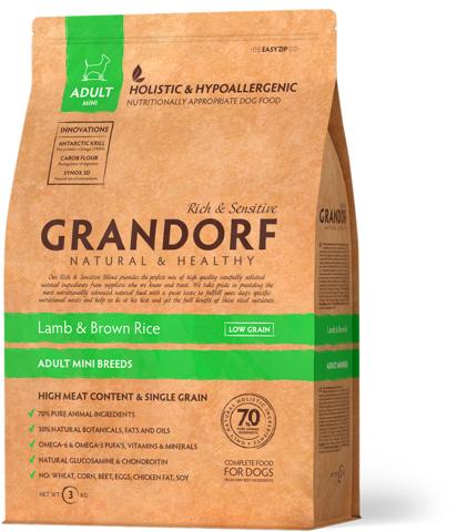 Grandorf Dog Mini сухой корм для собак мелких пород (ягнёнок с рисом) 3 кг