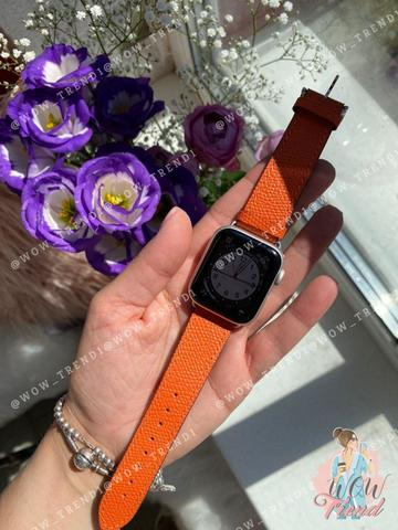 Ремешок Apple watch 42/44mm Hermès New Leather /orange/