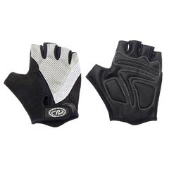Велоперчатки JAFFSON SCG 46-0210 (чёрный/белый/серый)