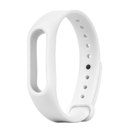 Силиконовый ремешок для Xiaomi Mi Band 2 (белый)