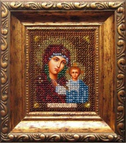ема: Религия, иконы, святые¶Техника: Вышивание бисером¶Размер: 6х7 см¶Основа: Ткань (хлопко-льняная)
