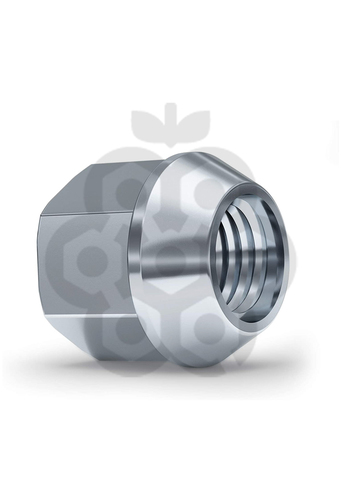 Гайка колёсная М14x1.5 длина=21мм ключ=21мм открытая конус 60º хром