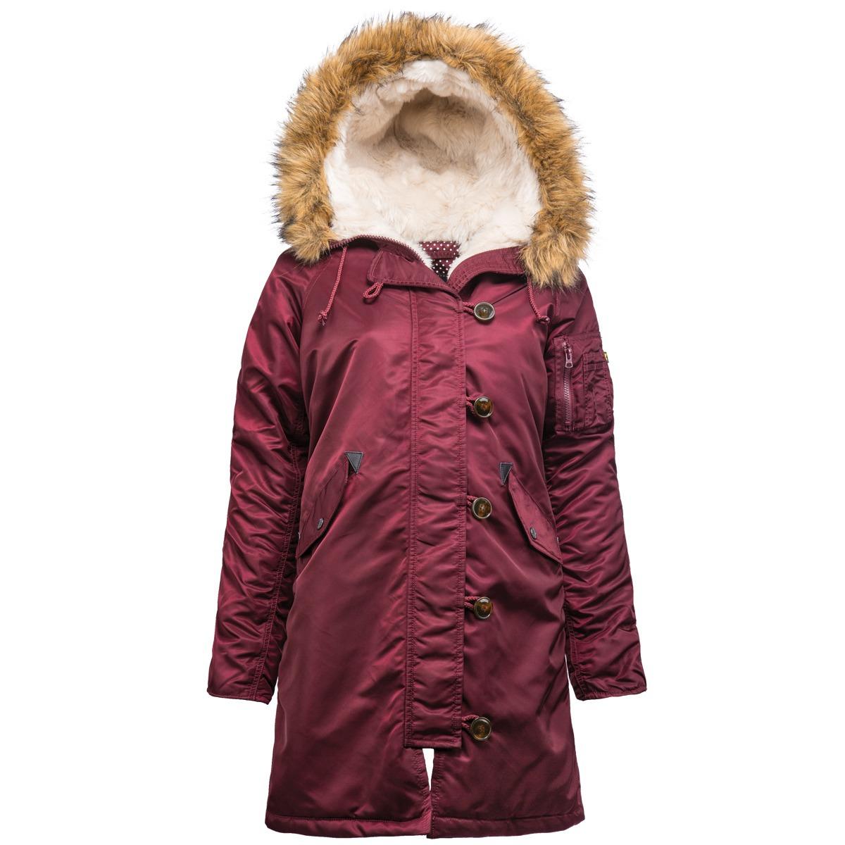 Куртка Аляска Женская - Elyse Parka 2015 (бордовая - maroon)