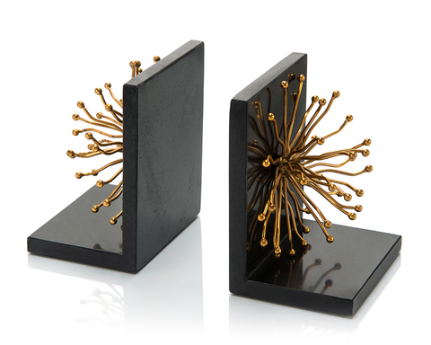 Set of Two Sunray Flower Bookends