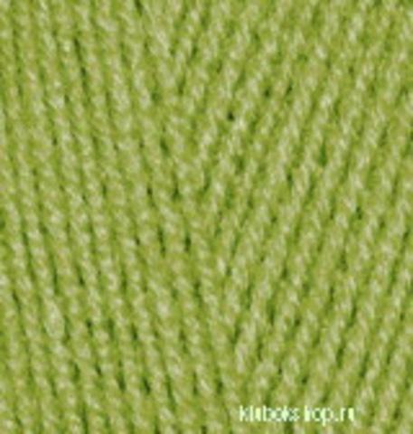 Пряжа Lanagold 800 (Alize) 485 зеленый, фото