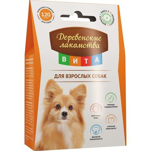 Деревенские лакомства Вита витамины для взрослых собак 120таб 60г