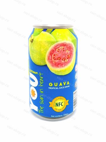 Вьетнамский напиток с соком гуавы, You Vietnam, 330 мл.