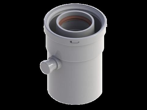Конденсатоотводчик горизонтальный диам.60/100 ROYAL THERMO RTF08.003