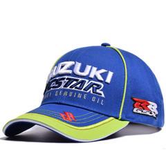 Стильная бейсболка с вышивкой Сузуки (Кепка Suzuki) синяя