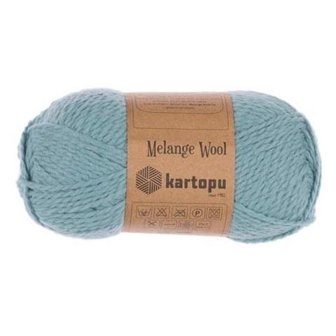 Пряжа Kartopu Melange Wool арт. 5017 лазурь