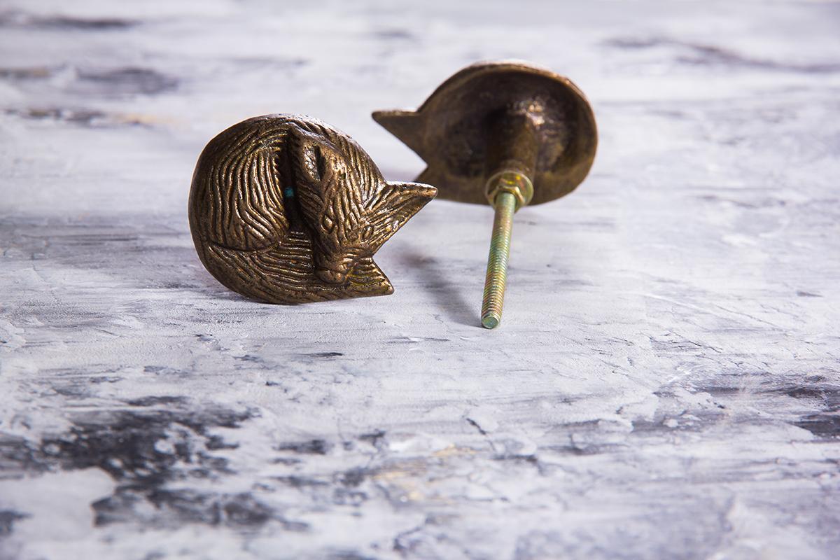 Ручка мебельная металлическая - лисица, арт. 000812