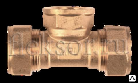 Тройник труба-внутренняя резьба(мама)-труба TF 15-1/2-15 - Hydrosta Flexy