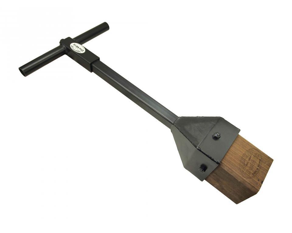 Тромбовщик с деревянным блоком DeWit и виброзащитной рукояткой 870мм