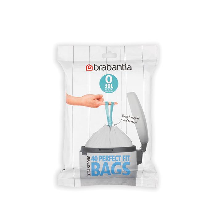 Мешки для мусора PerfectFit, размер O (30 л), упаковка-диспенсер, 40 шт., арт. 124846 - фото 1