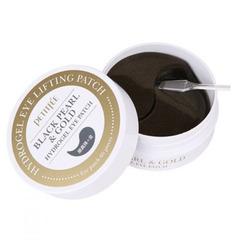 Petitfee Black Pearl & Gold Hydrogel Eye Patch - Гидрогелевые патчи для кожи вокруг глаз c черным жемчугом и золотом