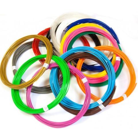 Набор Пластика(PLA) для 3Д Ручки 9 цветов.