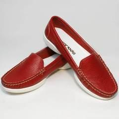 Туфли мокасины женские Evromoda 042.5710 WRed.