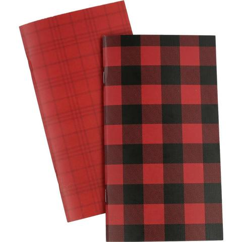 Набор внутренних блоков для тревелбука  - 11х21 см-Echo Park Traveler's Notebook - Red Buffalo Plaid Blank - 2 шт