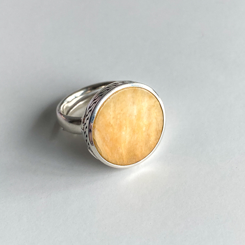 Кольцо с секретом DIONYSUS - Песочная яшма