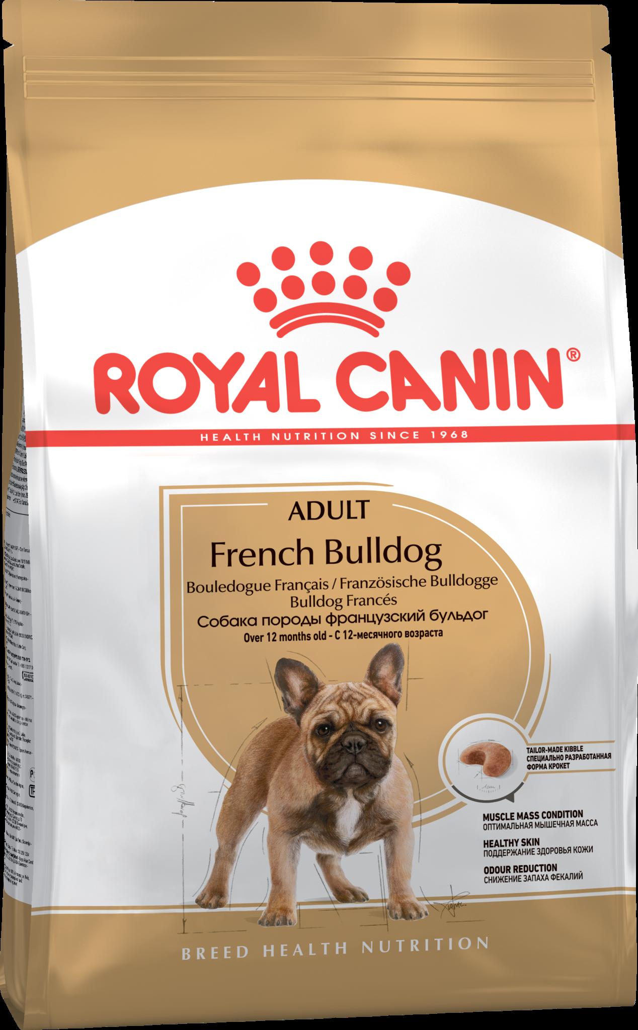Royal Canin Корм для взрослых собак породы французский бульдог, Royal Canin French Bulldog Adult 182130.png