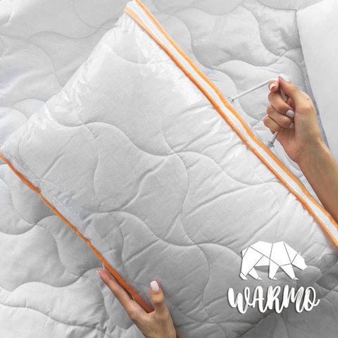 дитяча ковдра і подушка з бязі і шерстепону фото