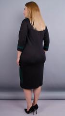 Карамель. Платья больших размеров. Черный+Бутылка.