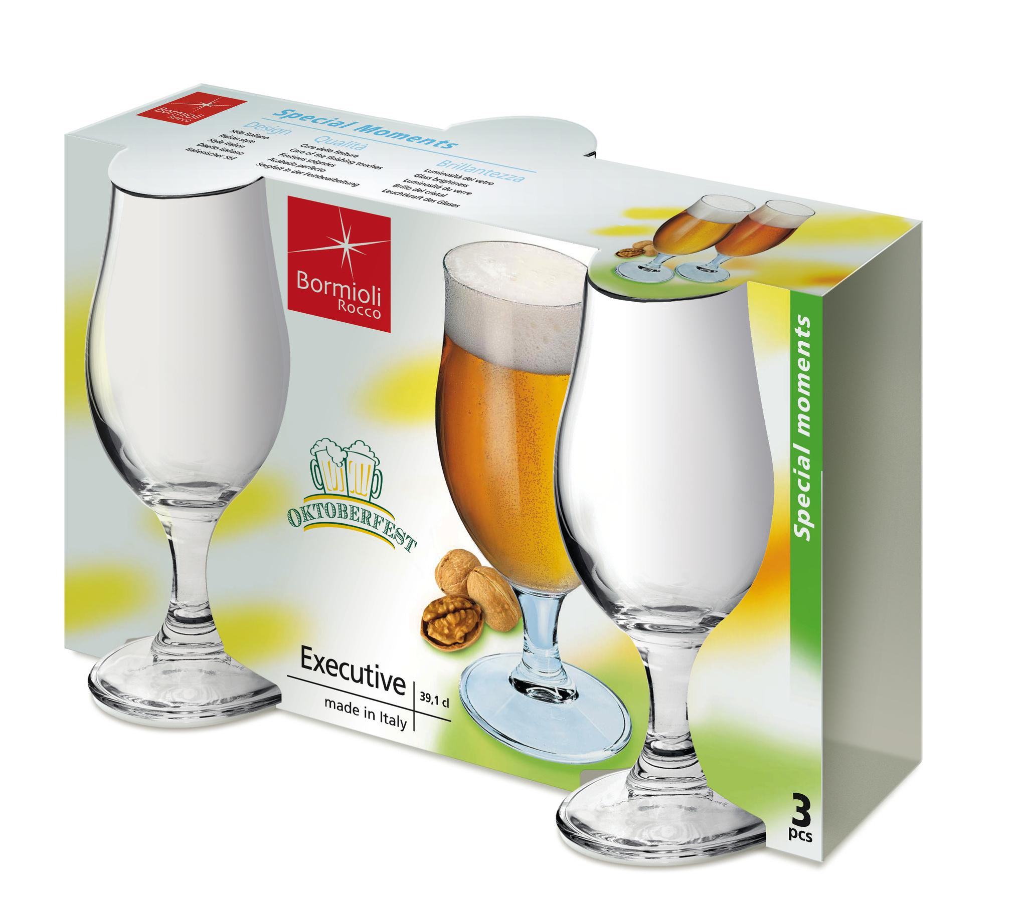Набор из 3 бокалов для пива «Executive», 530 мл