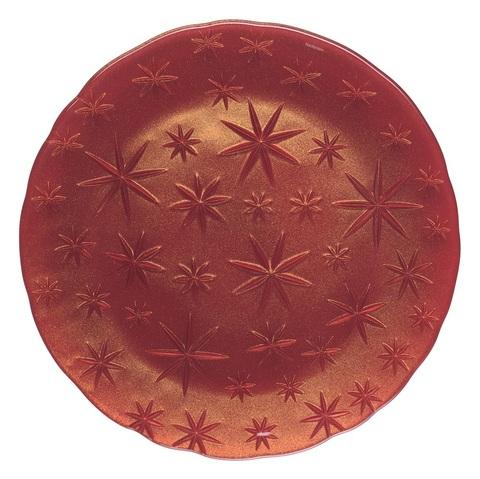 Блюдо круглое красное, артикул 95890. Серия Stars