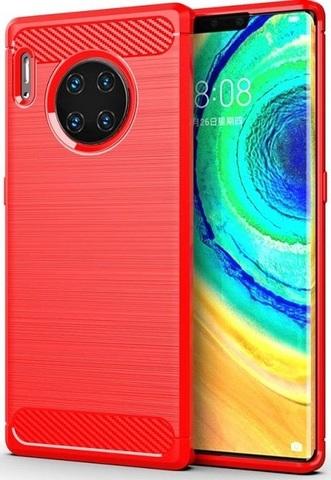 Чехол Huawei Mate 30 Pro (Mate 30 RS) цвет Red (красный), серия Carbon, Caseport