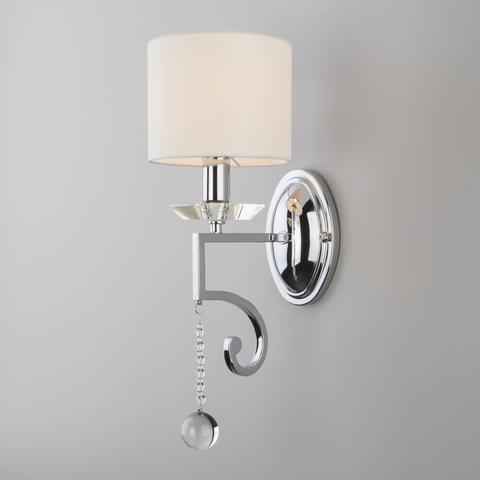 Настенный светильник с абажуром 60113/1 хром
