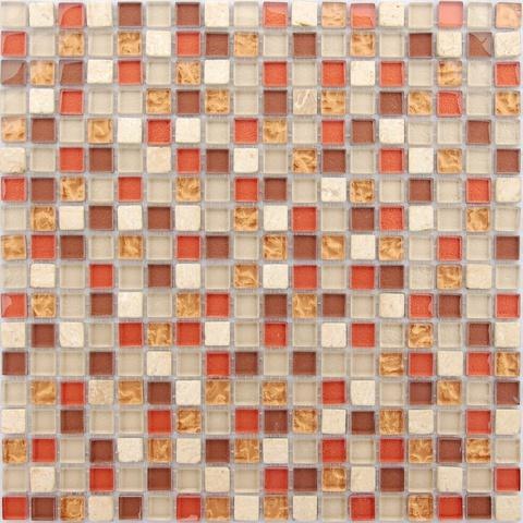 Мозаика стеклянная с камнем Istanbul 15x15x4 305х305