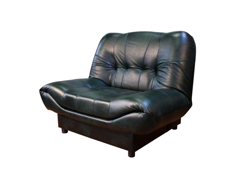 Кресло-книжка Скали, обивка натуральная кожа + кожзам