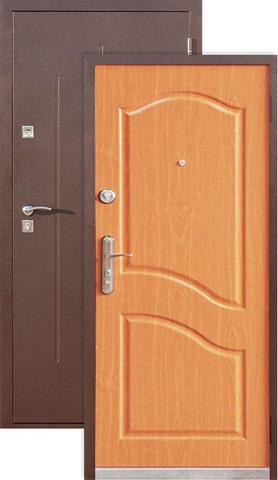 Дверь входная СтройГост Стройгост 5-2, 2 замка, 1 мм  металл, (медь+миланский орех)