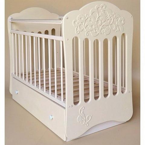 Кроватка детская Виола маятник поперечный с ящиком