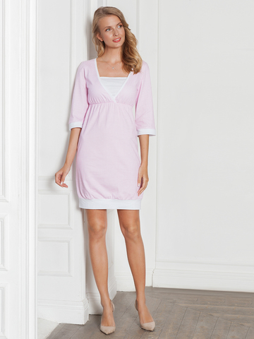 Vivamama. Платье домашнее Betty, розовая клетка