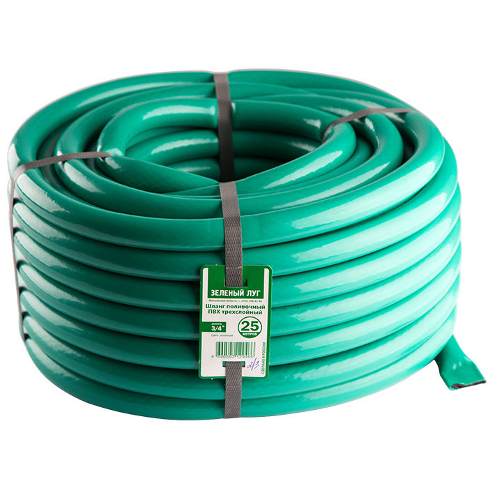 Шланг поливочный Зеленый луг БЮДЖЕТ диам.20мм, 20м непрозрачный, черно-зеленый