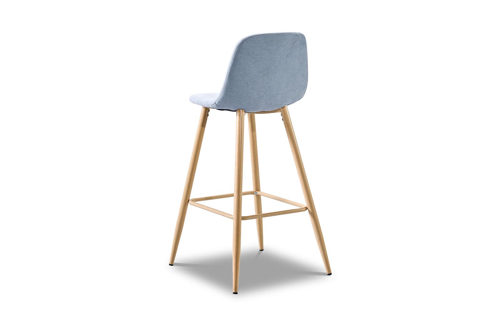 Барный стул ESF 350B голубой/дерево
