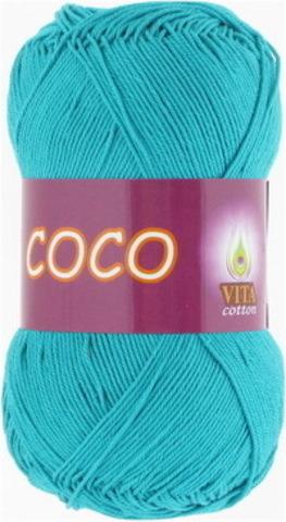 Пряжа Coco (Vita cotton) 4315 Темно-зеленая бирюз