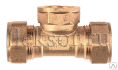 Тройник труба-внутренняя резьба(мама)-труба TF 25-3/4-25 - Hydrosta Flexy
