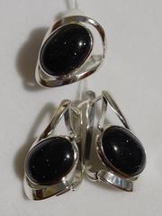 Делайн (кольцо + серьги из серебра)