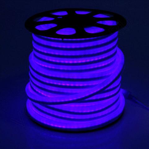 Гибкий неон 15*25 мм, светодиодный | Синий - 50м
