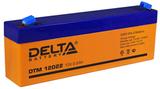 Аккумулятор Delta DTM 12022 ( 12V 2,2Ah / 12В 2,2Ач ) - фотография