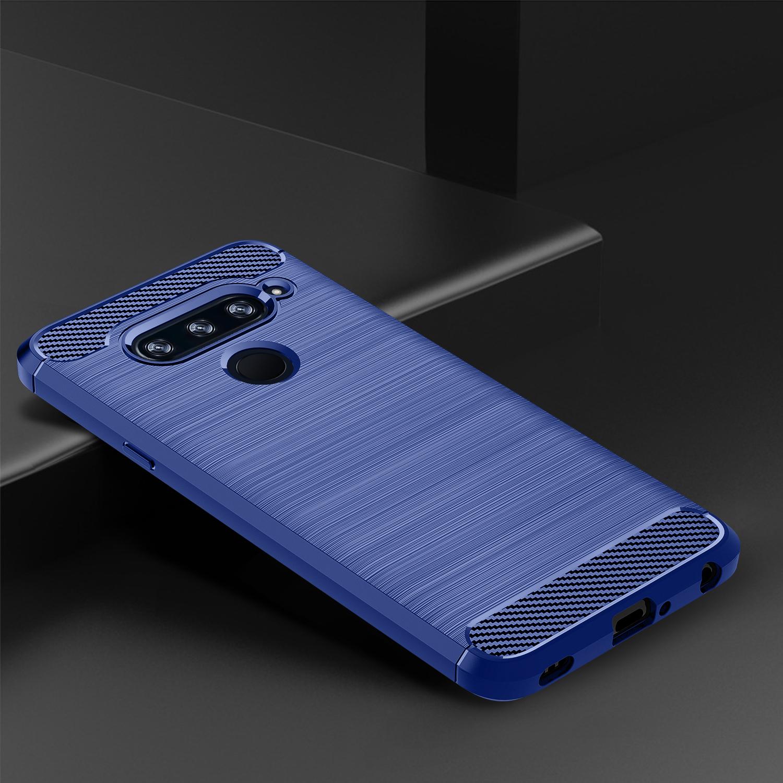 Чехол LG V40 ThinQ цвет Blue (синий), серия Carbon, Caseport