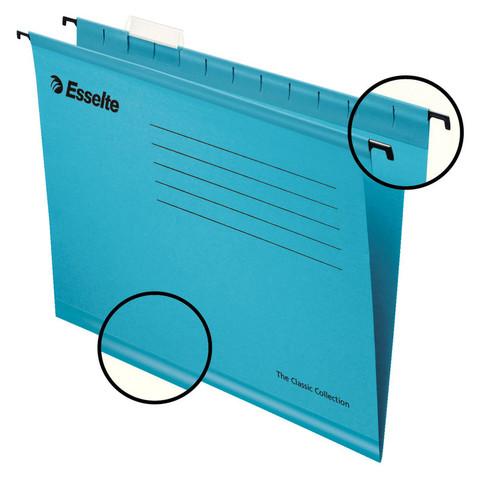 Подвесная папка Esselte Plus Foolscap А4 до 250 листов синяя (25 штук в упаковке)